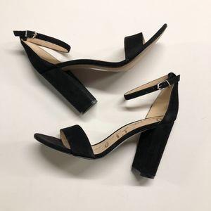 Womens SAM EDELMAN Yaro Suede Block Heel Sandals